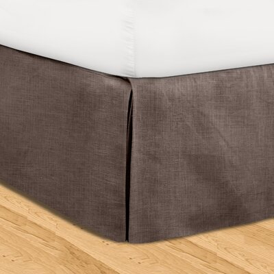 Fleuristes 3 Piece Adjustable Bed Skirt Set Color: Java, Size: California King