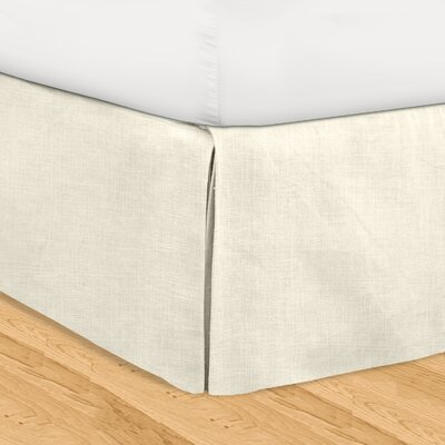 Fleuristes 3 Piece Adjustable Bed Skirt Set Size: King, Color: Pearl