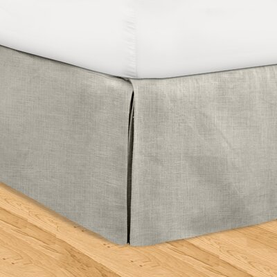 Fleuristes 3 Piece Adjustable Bed Skirt Set Size: Queen, Color: Gray