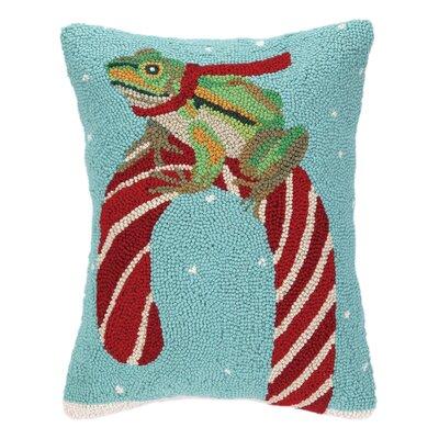 Elvera Frog Hook Wool Throw Pillow