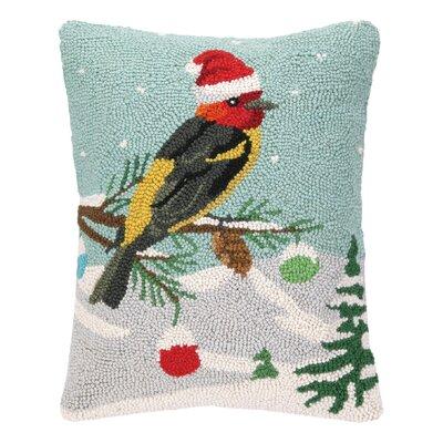 Elvera Tanager Hook Wool Throw Pillow