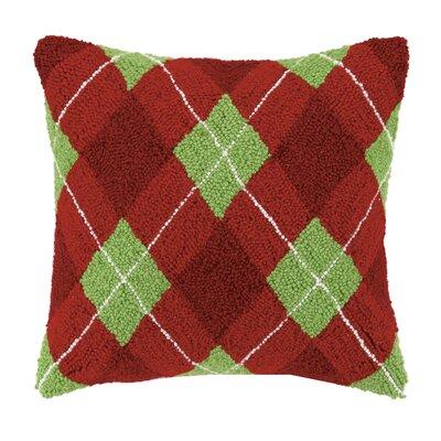 Elvera Argyle Hook Wool Throw Pillow
