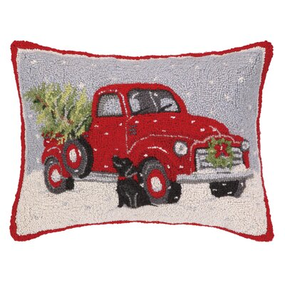 Elvera Truck Hook Wool Throw Pillow