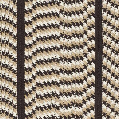 Georgina Ivory/Dark Brown Area Rug Rug Size: Oval 4 x 6