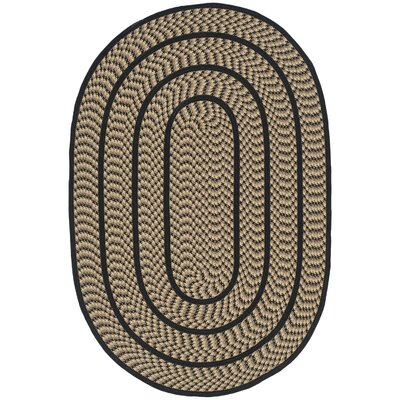 Georgina Contemporary Beige/Black Area Rug Rug Size: Oval 5 x 8