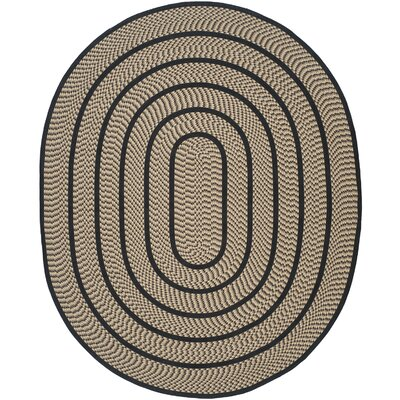 Georgina Contemporary Beige/Black Area Rug Rug Size: Oval 8 x 10