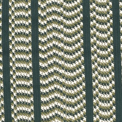 Georgina Ivory/Dark Green Contemporary Area Rug Rug Size: Oval 5 x 8