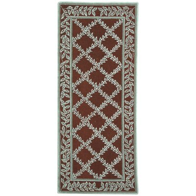 Kinchen Sage/Brown Area Rug Rug Size: Runner 26 x 6