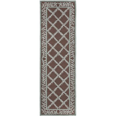 Kinchen Sage/Brown Area Rug Rug Size: Runner 26 x 8