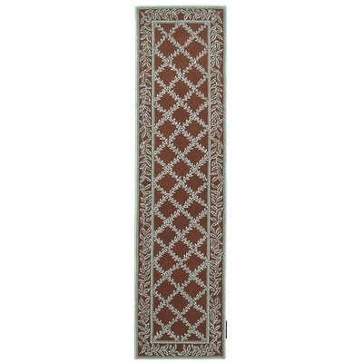 Kinchen Sage/Brown Area Rug Rug Size: Runner 26 x 12
