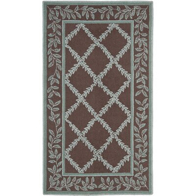 Kinchen Sage/Brown Area Rug Rug Size: Rectangle 18 x 26