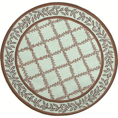 Kinchen Brown/Light Green Area Rug Rug Size: Round 4