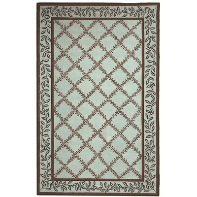 Kinchen Brown/Light Green Area Rug Rug Size: Rectangle 18 x 26