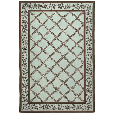 Kinchen Brown/Light Green Area Rug Rug Size: Rectangle 7'9