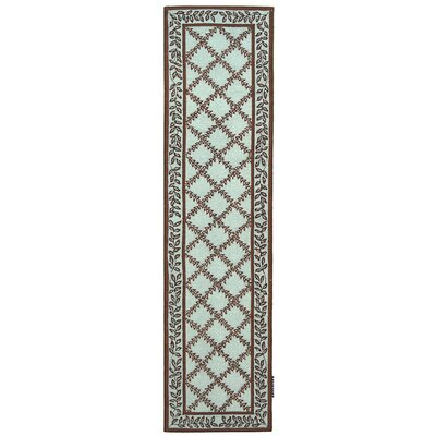 Kinchen Brown/Light Green Area Rug Rug Size: Runner 26 x 12