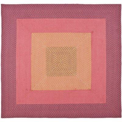 Georgina Pink & Beige Area Rug Rug Size: Square 6