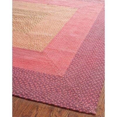 Georgina Pink & Beige Area Rug Rug Size: Oval 8 x 10