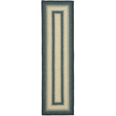 Georgina Hand-Woven Black/Grey Area Rug Rug Size: Runner 23 x 8