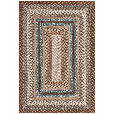 Georgina Brown Area Rug Rug Size: Oval 9 x 12