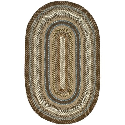 Georgina Hand-Woven Brown Area Rug Rug Size: Oval 10 x 14