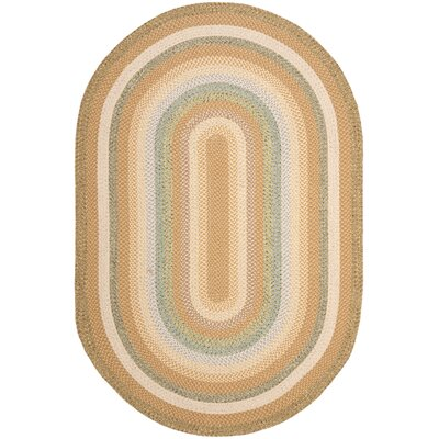 Georgina Tan/Multi Area Rug Rug Size: Oval 6 x 9