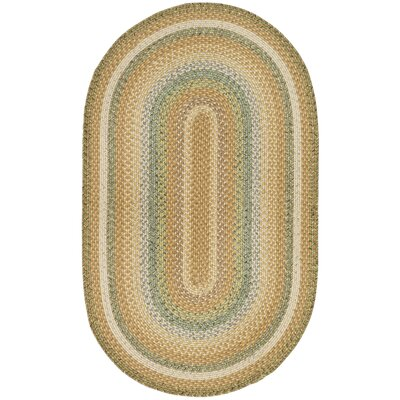 Georgina Tan/Multi Area Rug Rug Size: Oval 3 x 5