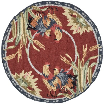 Kinchen Country Novelty Rug Rug Size: Round 3