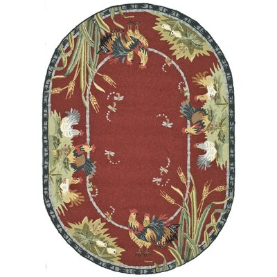 Isabella Country Novelty Rug Rug Size: Oval 76 x 96