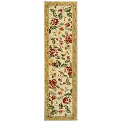 Kinchen Ivory Floral Area Rug Rug Size: Runner 26 x 8
