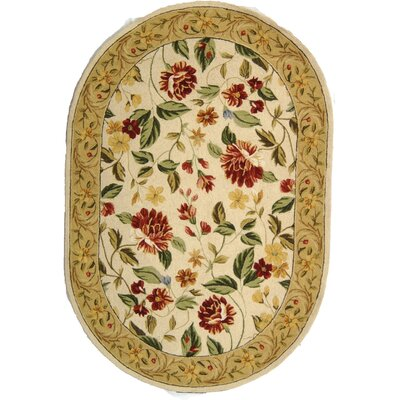 Kinchen Ivory Floral Area Rug Rug Size: Rectangle 53 x 83