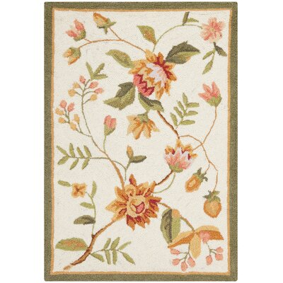 Kinchen Beige Floral Rug Rug Size: Rectangle 26 x 4