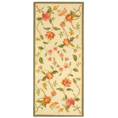 Kinchen Beige Floral Rug Rug Size: Runner 26 x 12