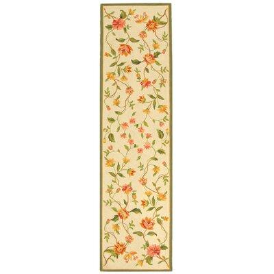 Kinchen Beige Floral Rug Rug Size: Runner 26 x 6