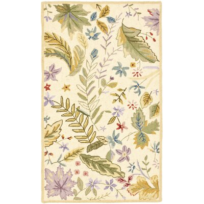 Roxane Ivory/Sage Area Rug Rug Size: Rectangle 39 x 59