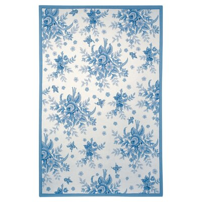 Kinchen Ivory/Blue Rug Rug Size: Rectangle 39 x 59