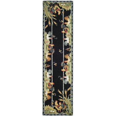 Kinchen Black Rug Rug Size: Runner 26 x 6