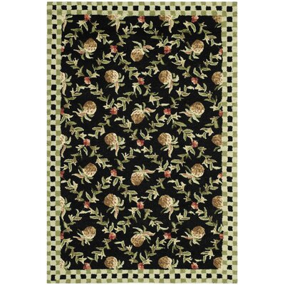 Kinchen Black/Ivory Rug Rug Size: Rectangle 29 x 49