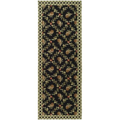 Kinchen Black/Ivory Rug Rug Size: Rectangle 26 x 4