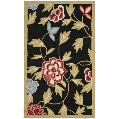 Kinchen Black/Green Novelty Area Rug Rug Size: Rectangle 26 x 4