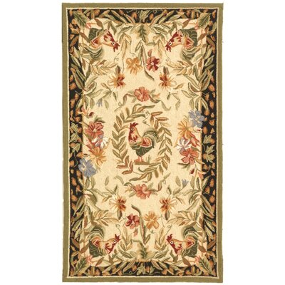 Isabella Chicken Novelty Area Rug Rug Size: 39 x 59