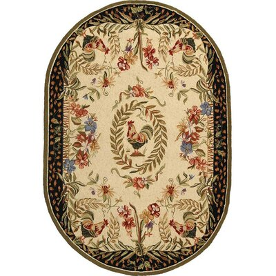 Isabella Chicken Novelty Area Rug Rug Size: Oval 46 x 66