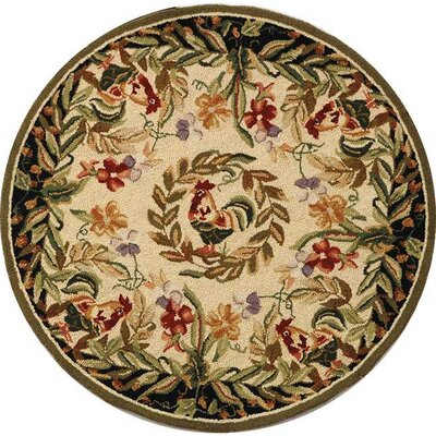 Kinchen Chicken Novelty Area Rug Rug Size: Round 4