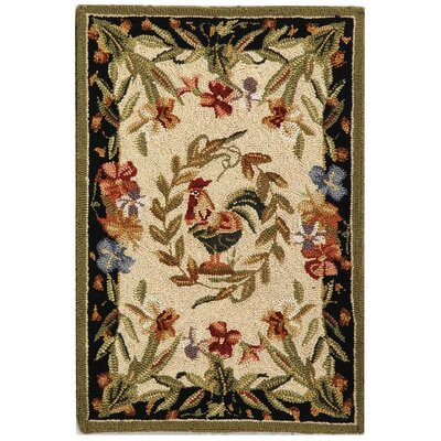 Isabella Chicken Novelty Area Rug Rug Size: 18 x 26