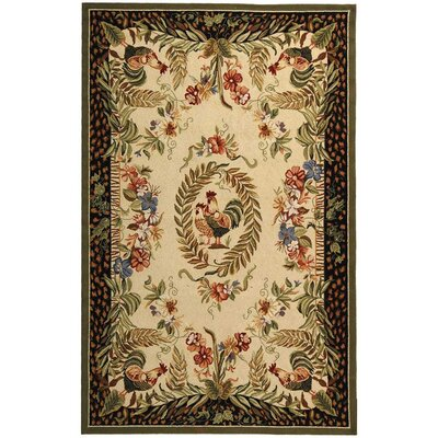 Isabella Chicken Novelty Area Rug Rug Size: 53 x 83