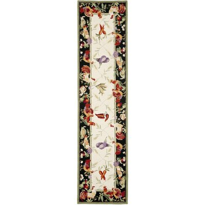 Kinchen Leaf and Chicken Novelty Area Rug Rug Size: Runner 26 x 12