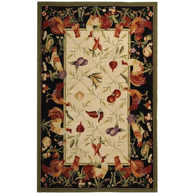 Isabella Leaf and Chicken Novelty Area Rug Rug Size: 29 x 49