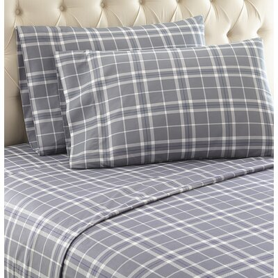 Georgette Sheet Set Size: King, Color: Gray