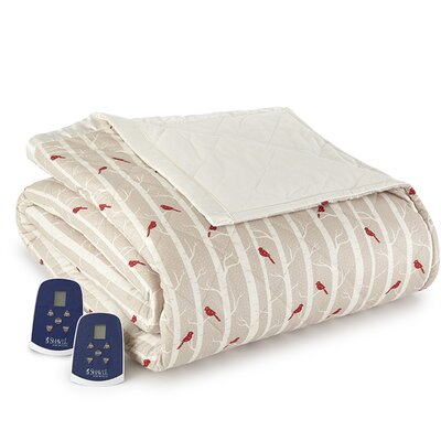 Georgette Cardinals Electric Heated Comforter Blanket Size: Queen