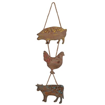 Wood Farm Animals Wall Decor