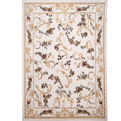 Bertie Ivory Area Rug Rug Size: Rectangle 52 x 72